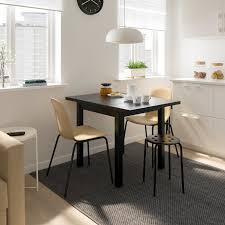 nordviken leifarne tisch und 2 stühle schwarz broringe schwarz 74 104x74 cm