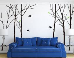 tree wall decals large birch tree wall mural tree and birds