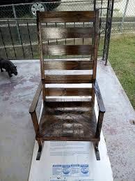 Repurposed Pallet Rocking Chair