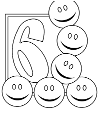 Numbers 6 Coloring Page