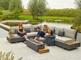 outdoor living edge lava khaki lounge set 6 personen