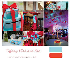 Tiffany Blue And Red Wedding Colors