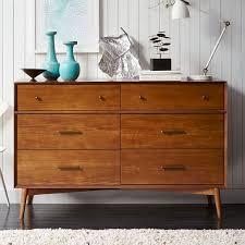 mid century 6 drawer dresser acorn west elm