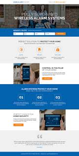 Home Alarm Security System Responsive Landing Page Design ... Home Security System Design Ideas Self Install Awesome Contemporary Decorating Diy Wireless Interior Simple With Text Messaging Nest Is Applying Iot Knhow To News Download Javedchaudhry For Home Design Amazing How To A In 10 Armantcco Philippines Systems Life And Travel Remarkable Best 57 On With