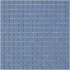 lyric unglazed porcelain rectified edge mosaic tile in country blue