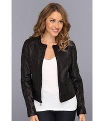 black collarless leather jacket womens
