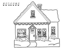 Christmas Coloring Pages Big Houses
