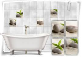 details zu fliesenaufkleber fliesenbild zen steine wellness spa aufkleber deko fliesen bad