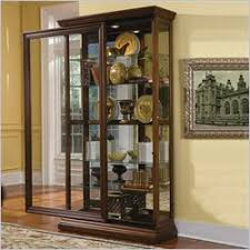 Pulaski Glass Panel Display Cabinet by Curio Cabinets Glass Display Cabinets