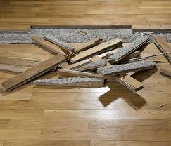 warped and buckled flooring can result from water intrusion