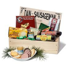 Dan The Sausageman's Favorite Gourmet Gift Basket -Featuring Dan's Original  Sausage, Seabear Salmon, 100% Wisconsin Cheeses, And Dan's Sweet Hot ...