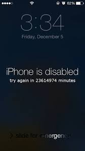 Incredible iPhone is Disabled try again in minutes