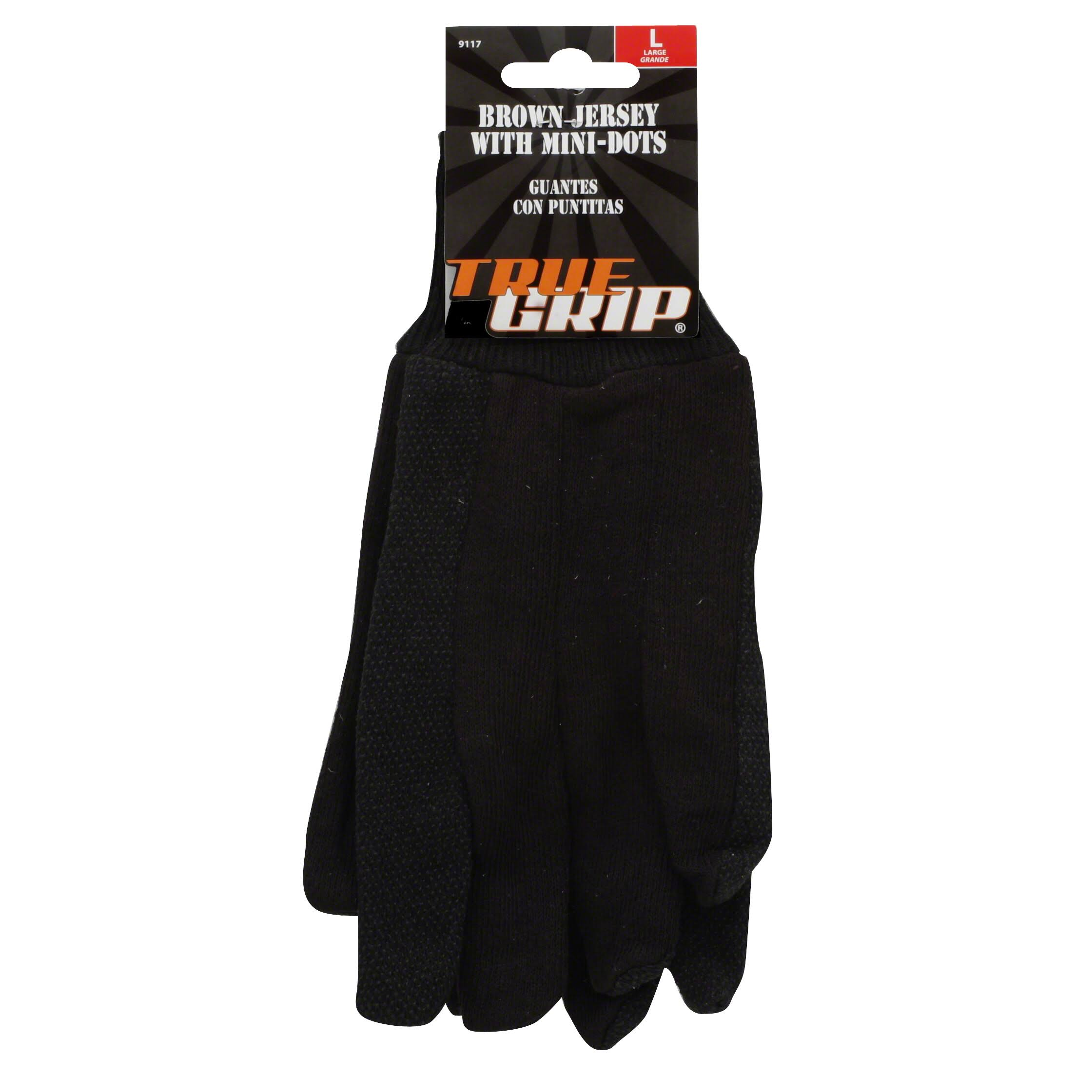 Big Time Products True Grip Jersey Glove - Brown, Large