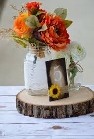 Sunflower Table Numbers Wedding Rustic Fall