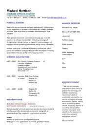 Graduate Software Engineer CV Sample How To Write A Example IT Technology