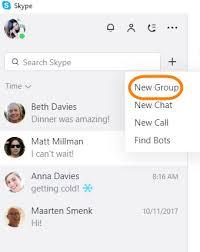 skype de bureau comment créer une conversation de groupe dans la nouvelle