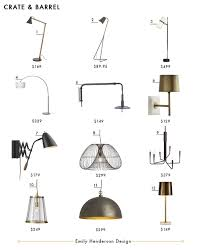 Crate And Barrel Rex Desk Lamp by My Favorite 37 Online Lighting Resources Emily Henderson