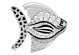 Fish Coloring Pages For Adults Books