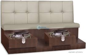 Gulfstream Plastics Pedicure Chairs by Tiffany Double Pedicure Bench Luxury Day Spa Pedicure Bench