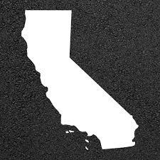 California State Map Stencil