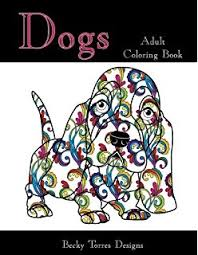 Dogs Adult Coloring Book