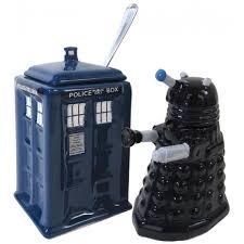 Dr Who Dalek Christmas Tree by Doctor Who Tardis Vs Dalek Cream And Sugar Set Bbc Shop