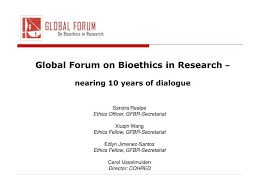 A Translational Innovation Forum Ppt Ppt Global Forum On Bioethics In Research Nearing 10 Years Of