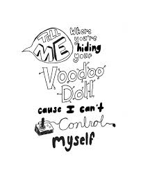 5 Seconds Of Summer Voodoo Doll Lyric Art By Liveoffcourage