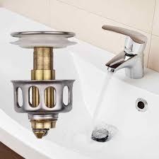 luxus sinken bis ablauf stopper becken bad toilette messing