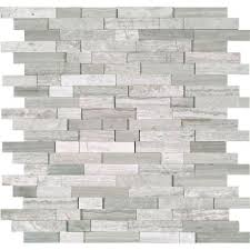 white quarry splitface 12 in x 12 in x 10 mm marble mesh mounted