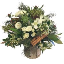 Rustic Arrangement In A Birch Bark Pot