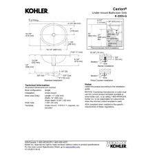 Kohler Caxton Sink Rectangular by Kohler K 2205 G 0 Caxton White Undermount Single Bowl Bathroom