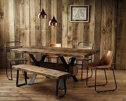 Full Image Dining Room Rustic Decorating Ideas Minimalist Wooden Solid Furniture Modern Reclaimed Wood Table Oak