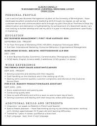 Student Template Part Time Job Infinite Cv For 16 Year Old