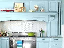 herringbone kitchen backsplash light blue kitchen cabinet slide in