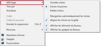 raccourci afficher bureau windows 7 réorganiser les icônes sur le bureau clubic