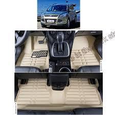 Oxgord Rubber Floor Mats by Fiber Leather Car Floor Mat Carpet Rug For Ford Kuga Ford Escape