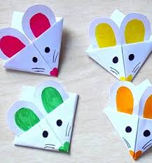 DIY Mouse Corner Bookmark Easy Paper Craft For Kids