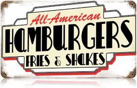 deco americaine annee 50 plaque décorative ées 50 américaine all american hamburgers