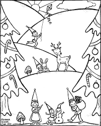 Big Christmas Tree Coloring Pages Printable by Winter Coloring Pages Printable Itgod Me