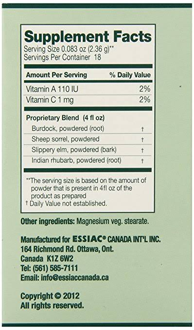 Essiac Herbal Supplement Powder - 42.5g