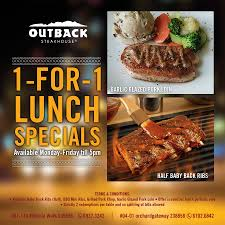 Outback Steakhouse 1-For-1 Lunch Specials Can I Eat Low Sodium At Outback Steakhouse Hacking Salt Gift Card Eertainment Ding Gifts Food Steakhouse Coupon Bloomin Ion Deals Gone Wild Kitchener C3 Coupons 1020 Off Coupons Free Appetizer Today Parts Com Code August 2018 1for1 Lunch Specials Coupon From Ellicott City Md On Mycustomcoupon Exceptional For You On The 8th Day Of