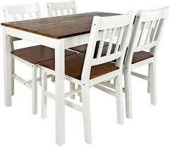 merkell leomark schöne essgruppe white walnut tisch und 4 stühlen kiefer esstisch naturholz esszimmergruppe für küche komplett holz ess set