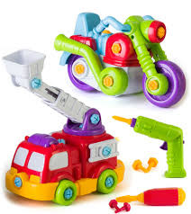 100 Fire Truck Power Wheels EduKid Toys EASY BUILD PLAY POWER TOOL SET BIKE FIRE TRUCK