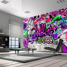 tapeta graffiti graffiti hiphop dekoracja decor