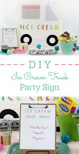 DIY Ice Cream Truck Party Sign | Diy Ice Cream, Party Planning And ... Sweet Ice Queen Cream Truck Kids Birthday Party Places Event Invitation Editable Diy Printable Classic Southern Van Shop On Wheels Popsicle Moore Minutes Build A Dream Playhouse Giveaway And Also Tips On How Doodlebug Designdoodle Popsweet Summer Collectionice Dragon Ice Cream Treats Let Us Make Your Special Cool Treat Invitations Vintage Cream Petite Studio Favor Box Cupcake Set