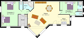 plan de maison 2 chambres faire construire une maison avec 2 chambres plans maisons