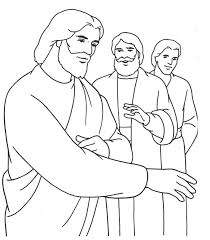 Simple Coloring Free Printable Jesus Pages With Page