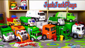 Big Garbage Truck Toy Collection - Playing With LEGO Trash - YouTube