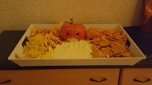Pumpkin Throwing Up Guacamole With Cheese Dip by Vomiting Pumpkin Or How To Serve Nachos At Helloween 5 Steps